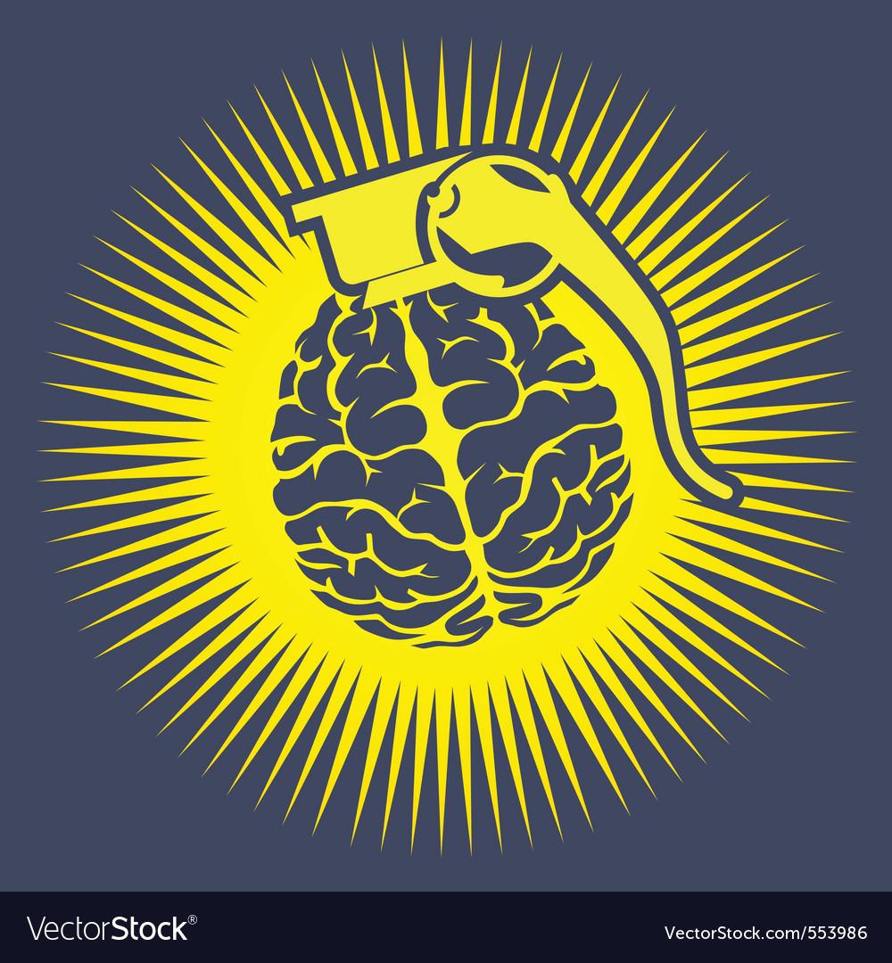 Brain bomb vector image