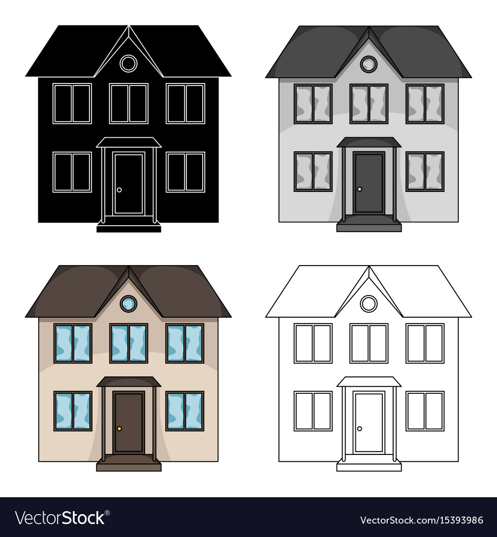 Private cottagerealtor single icon in cartoon vector image