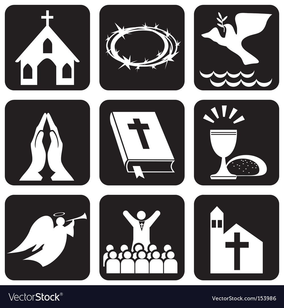 Religious symbols royalty free vector image vectorstock religious symbols vector image biocorpaavc
