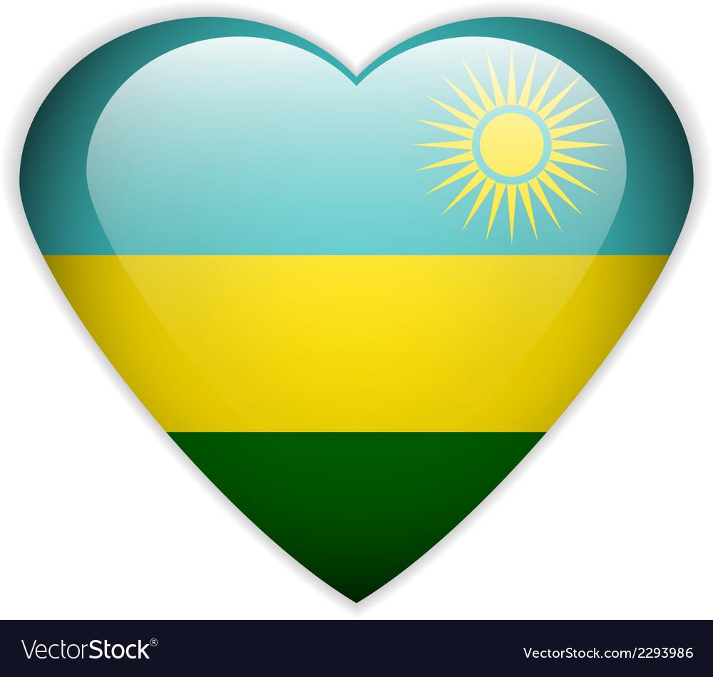 Rwanda Flag Button Royalty Free Vector Image VectorStock - Rwanda flag