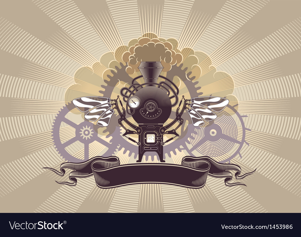 Steampunk graphic design Royalty Free Vector Image