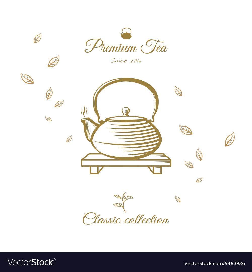 Tea design cover vector image