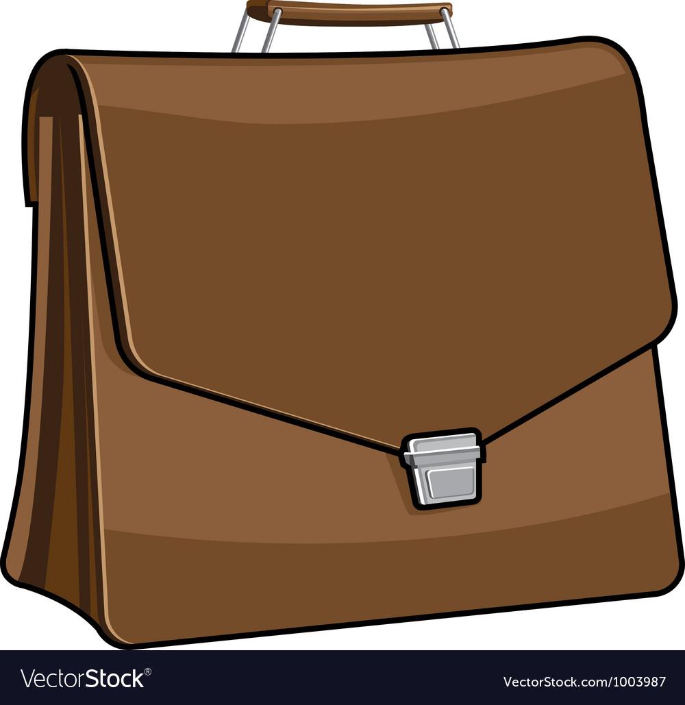 Brown Brief case icon vector image