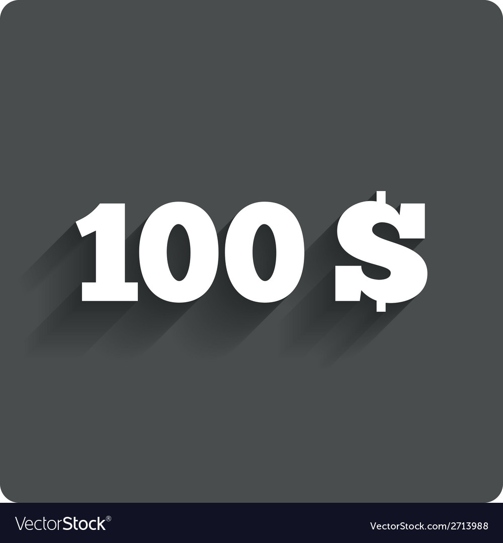 100 dollars sign icon usd currency symbol vector image buycottarizona Image collections