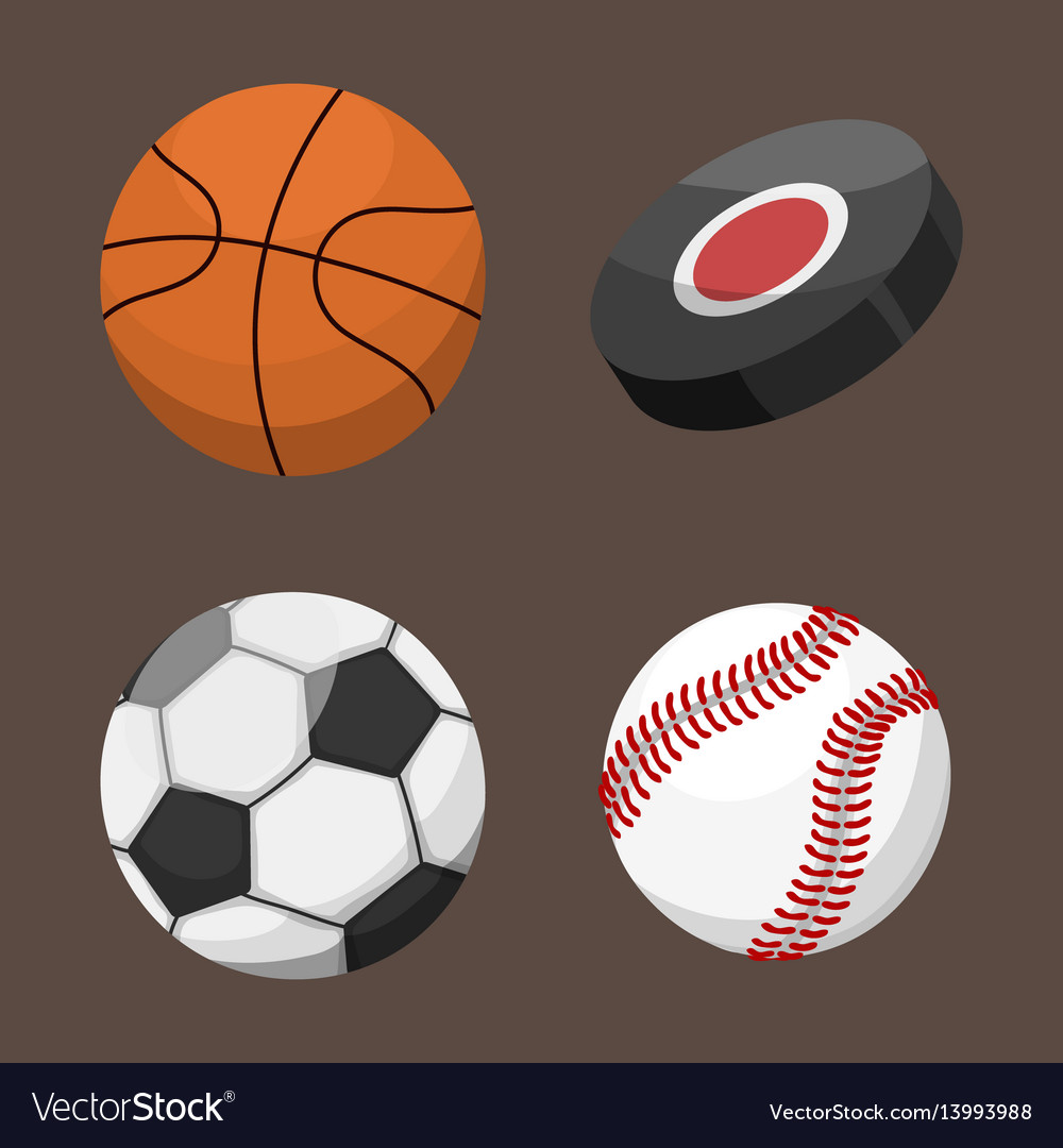 Sport balls isolated tournament win round basket vector image