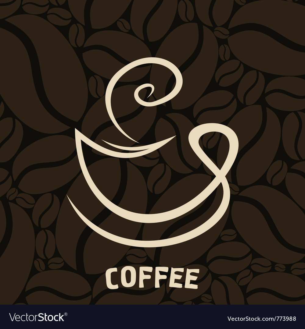 White cup of coffee vector image