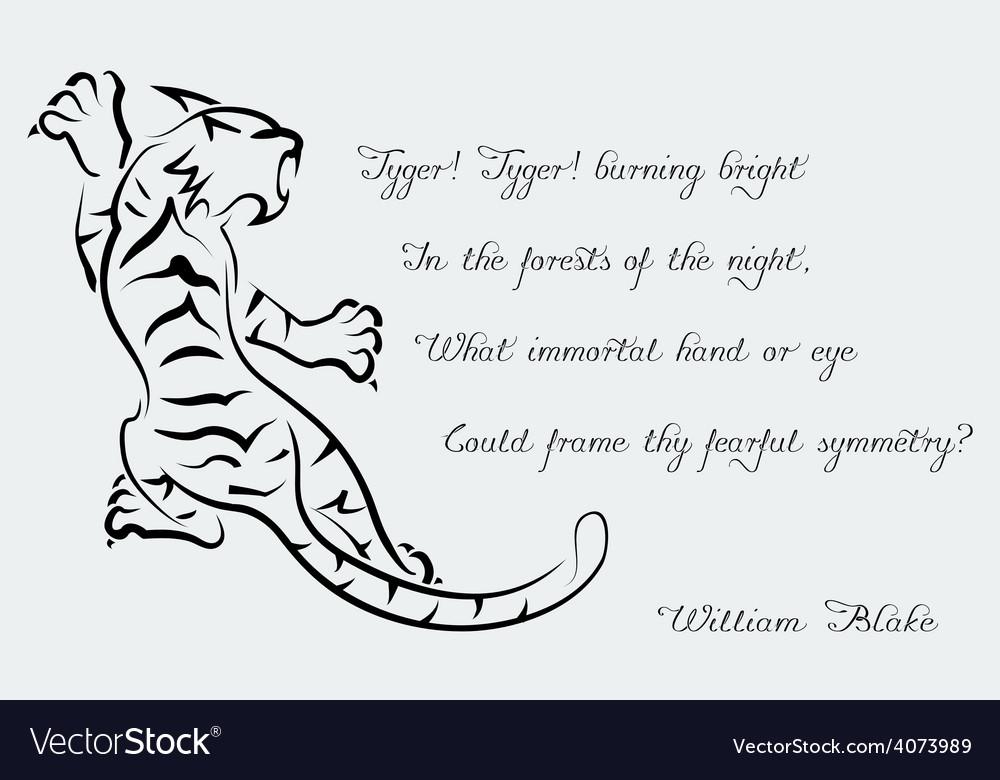 Tiger Poems of William Blake Royalty Free Vector Image - VectorStock