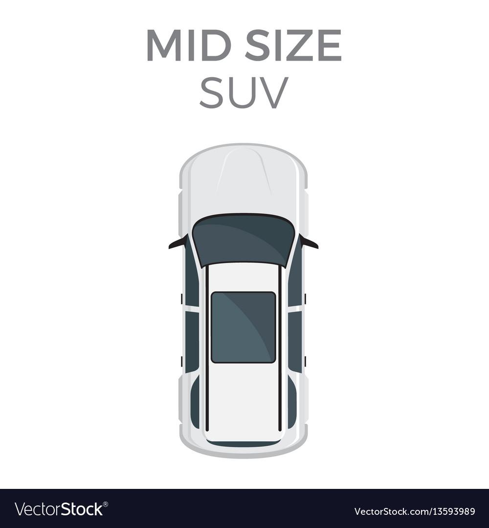 Mid sizesuv means of transportation isolated vector image