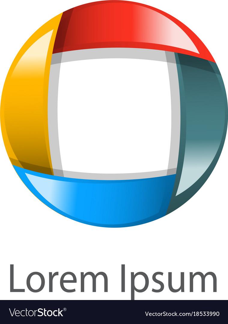 Emblem circle different colors vector image