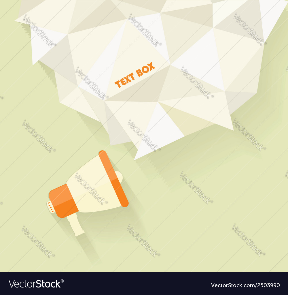 Flat icon of megaphone with bubble speech vector image