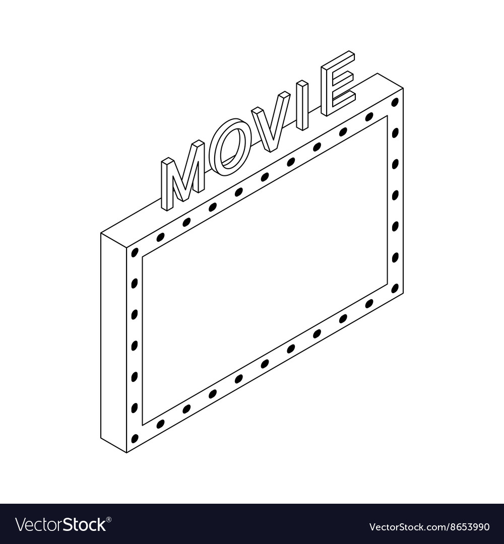 Movie icon isometric 3d style vector image