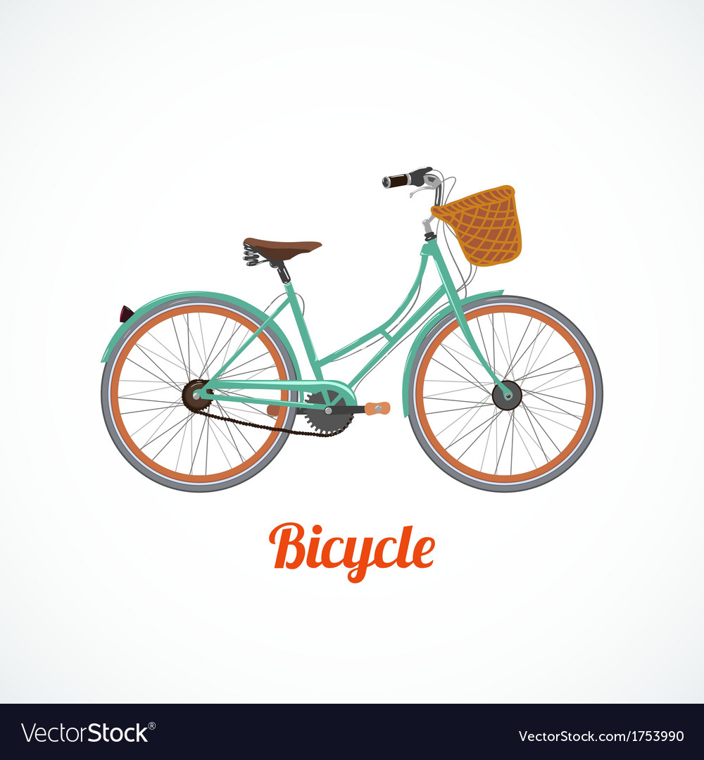 Vintage bicycle symbol vector image