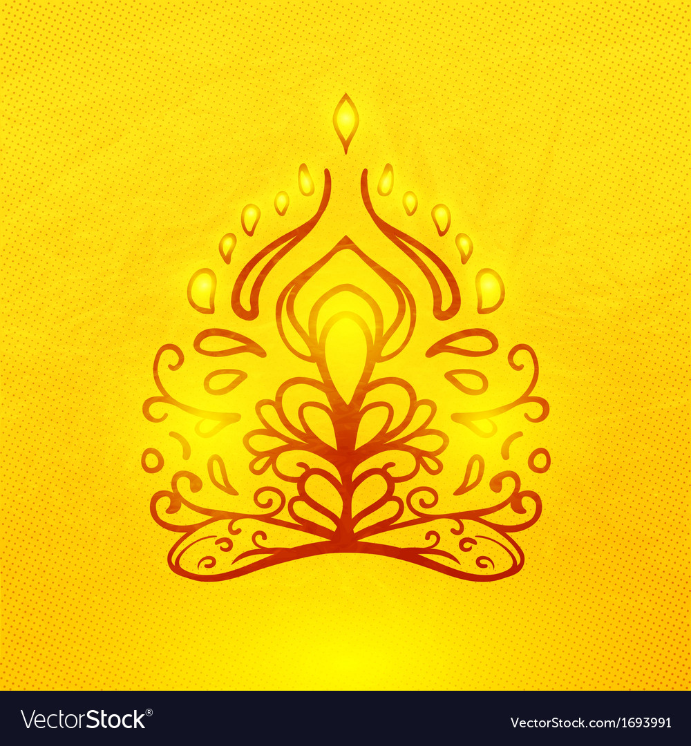 Abstract doodle buddha vector image