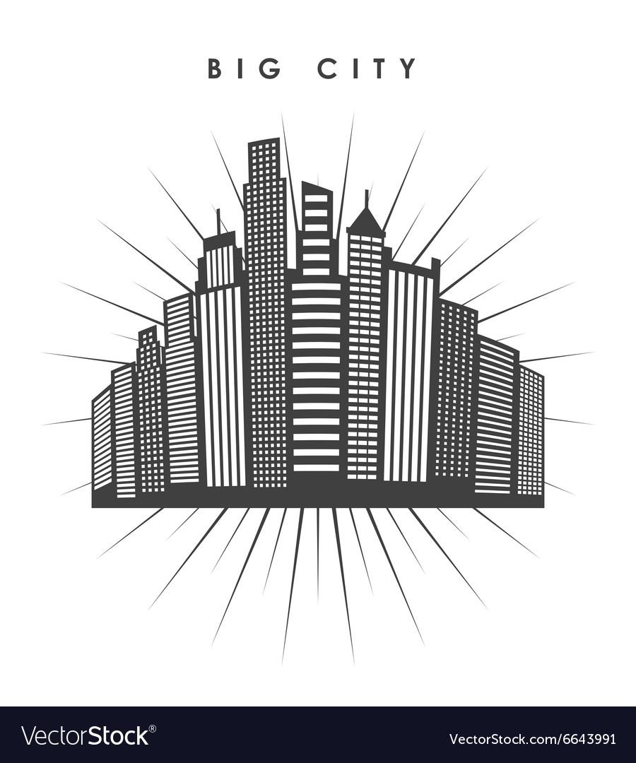 Big city design vector image