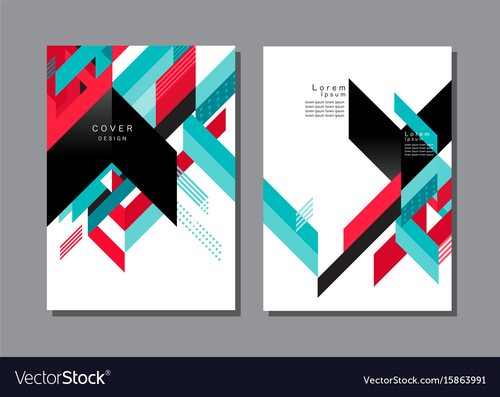 Cover layout design pattern and background vector image