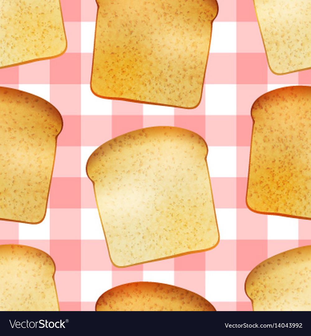 Bright tasty toasts breakfast seamless pattern vector image