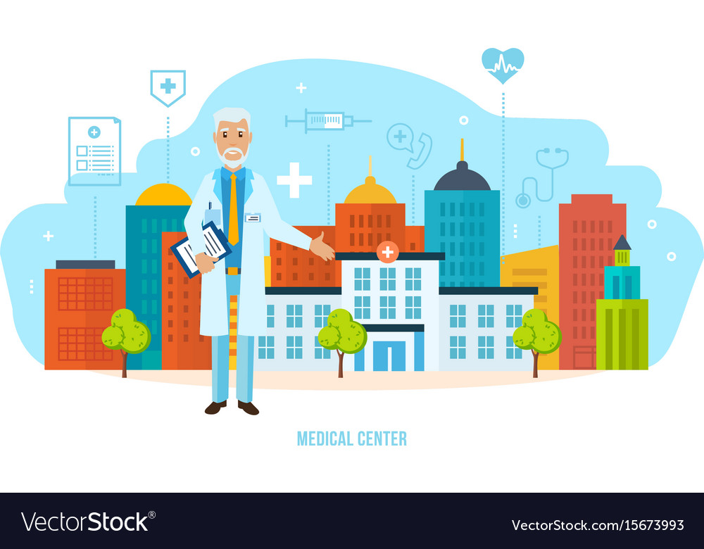 Medical center for patients laboratory research vector image