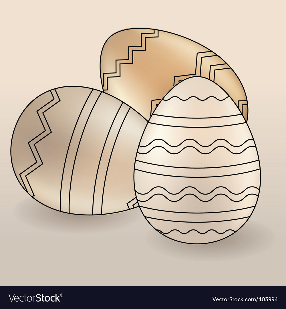 Set of different Easter eggs vector image
