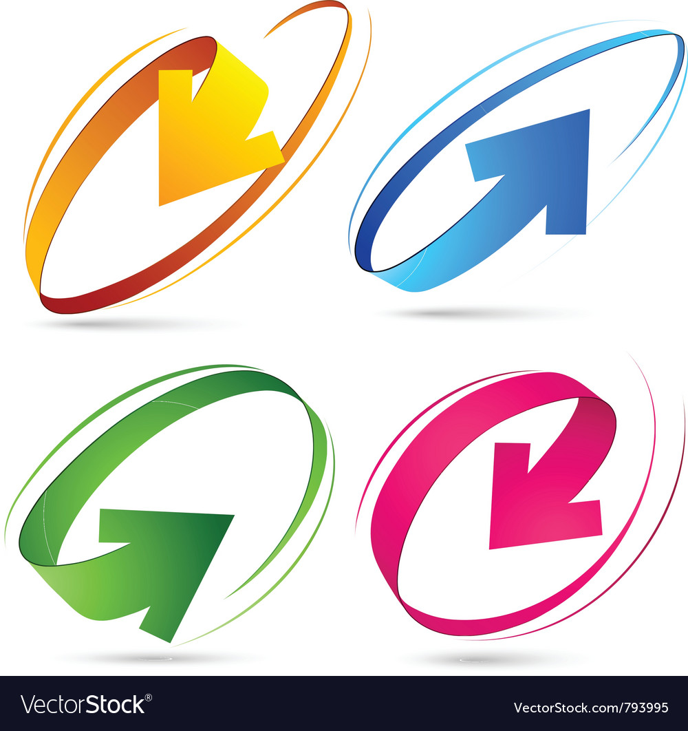 Collection of colour arrows vector image