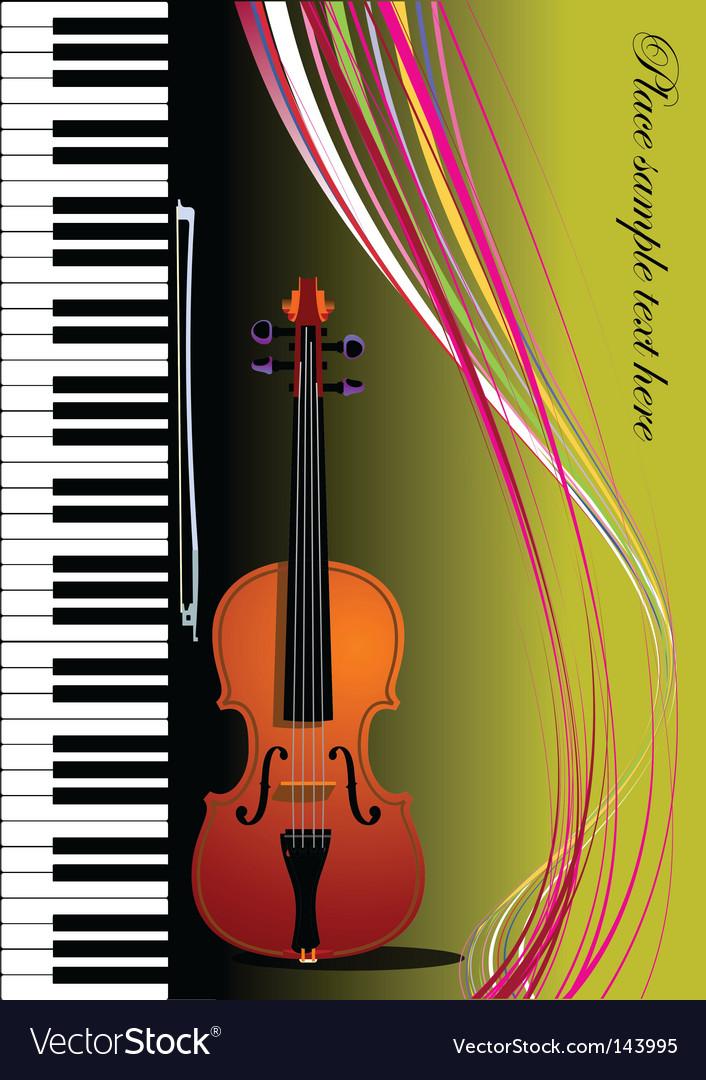 Violin and piano vector image