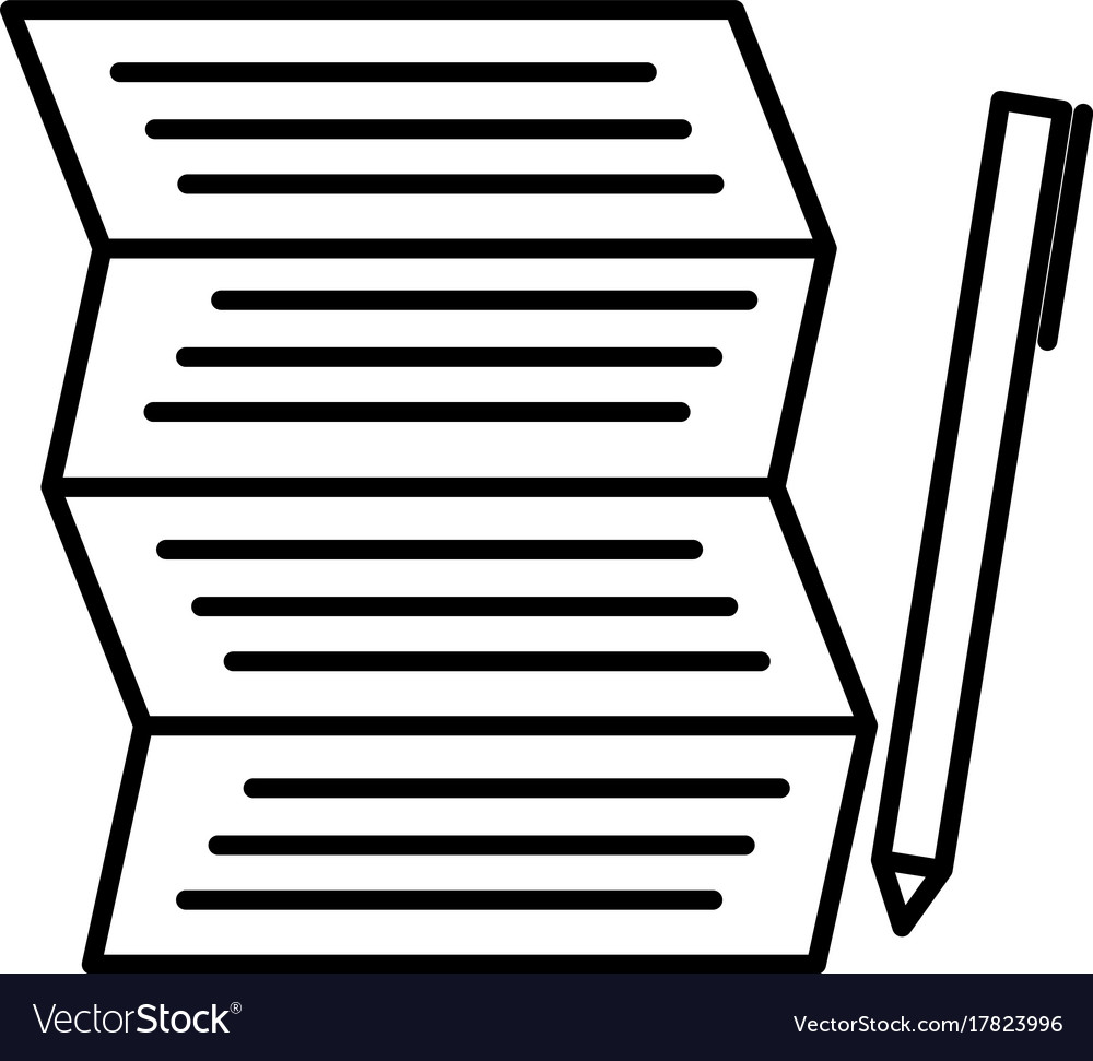 Shoping to do list with pen icon vector image