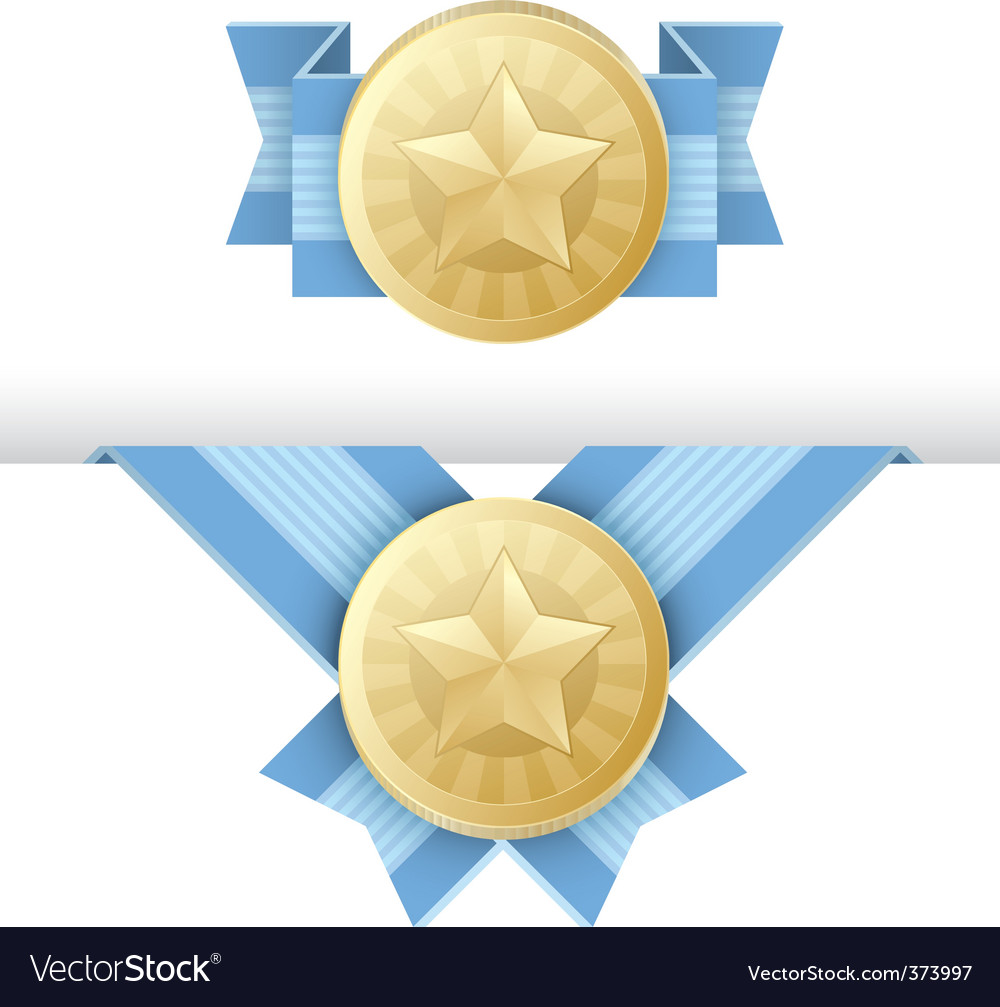 Gold medal award certificate vector image