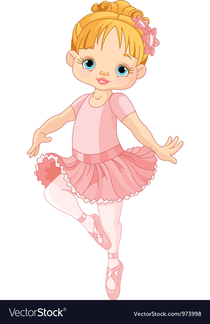 Cute little ballerina Royalty Free Vector Image