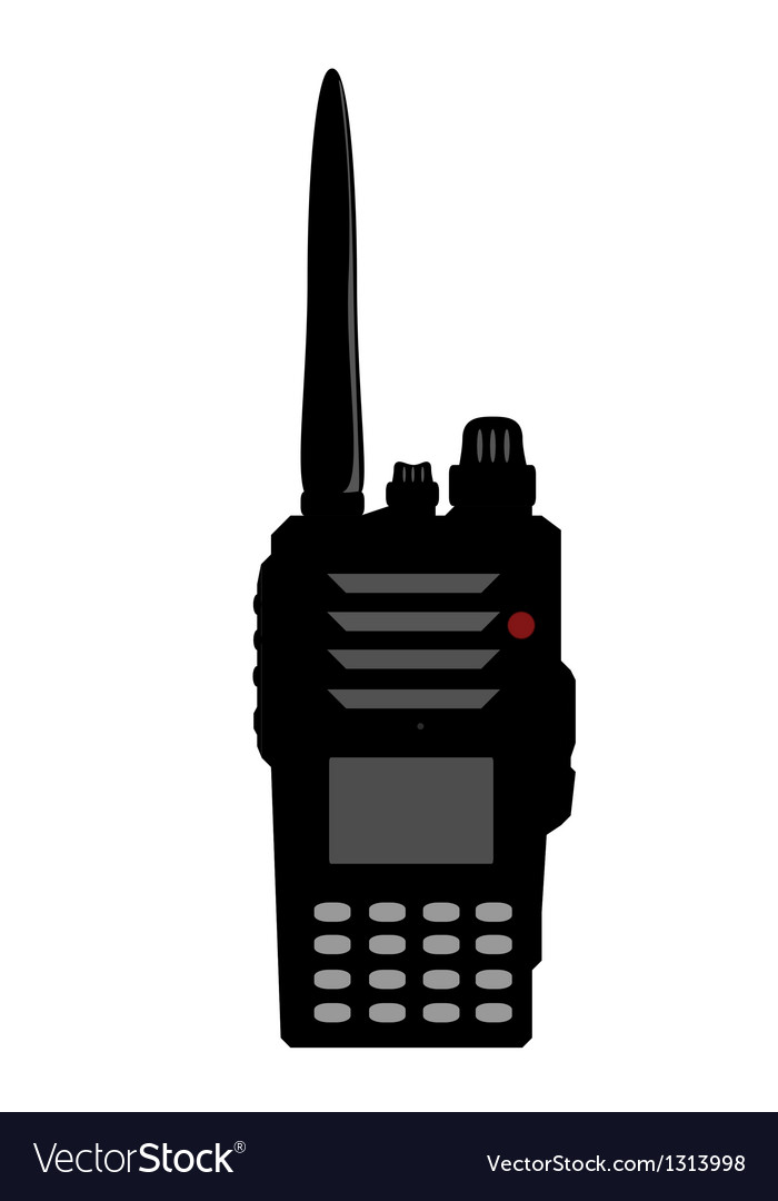 Walkie talkie or police radio or radio vector image
