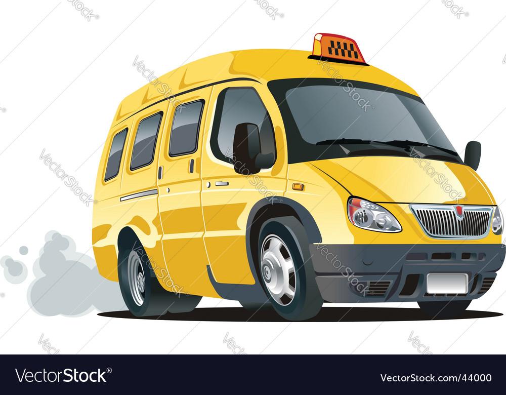 Cartoon taxi bus vector image