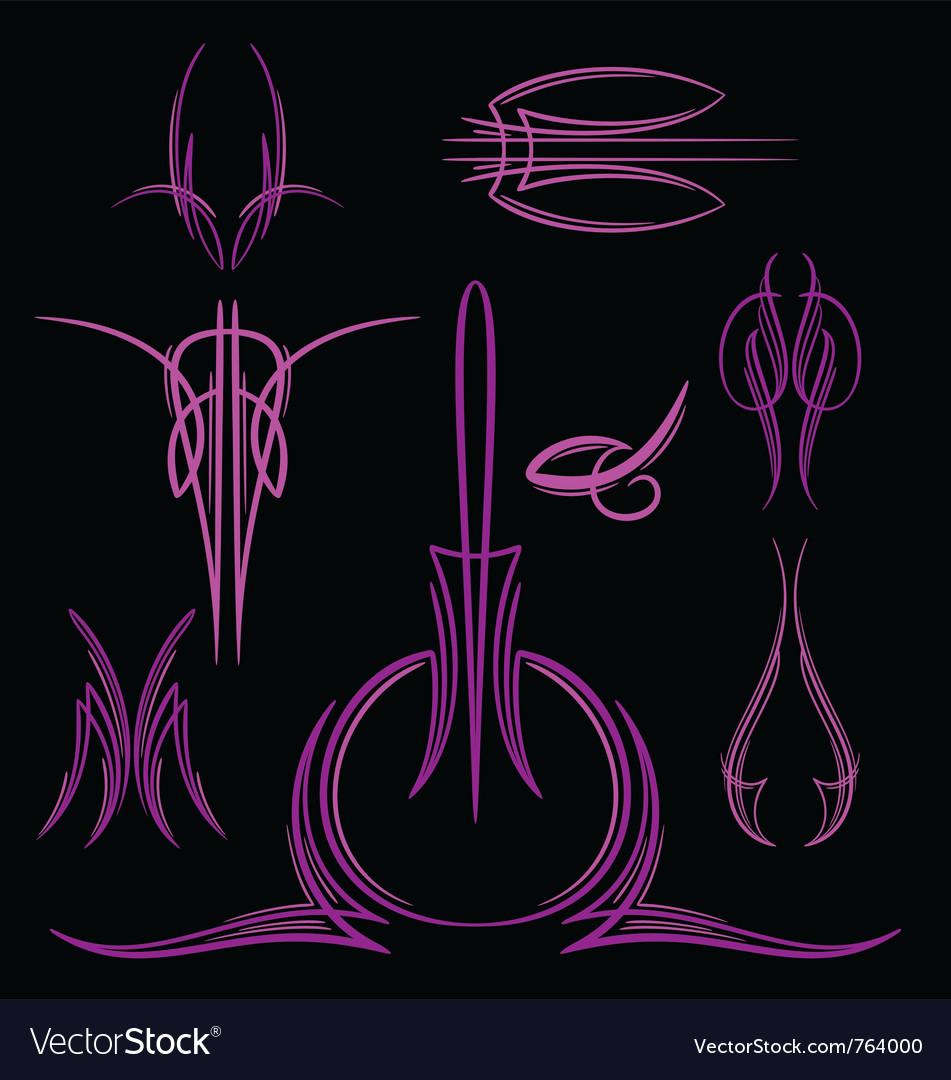 Pinstripe-035 vector image