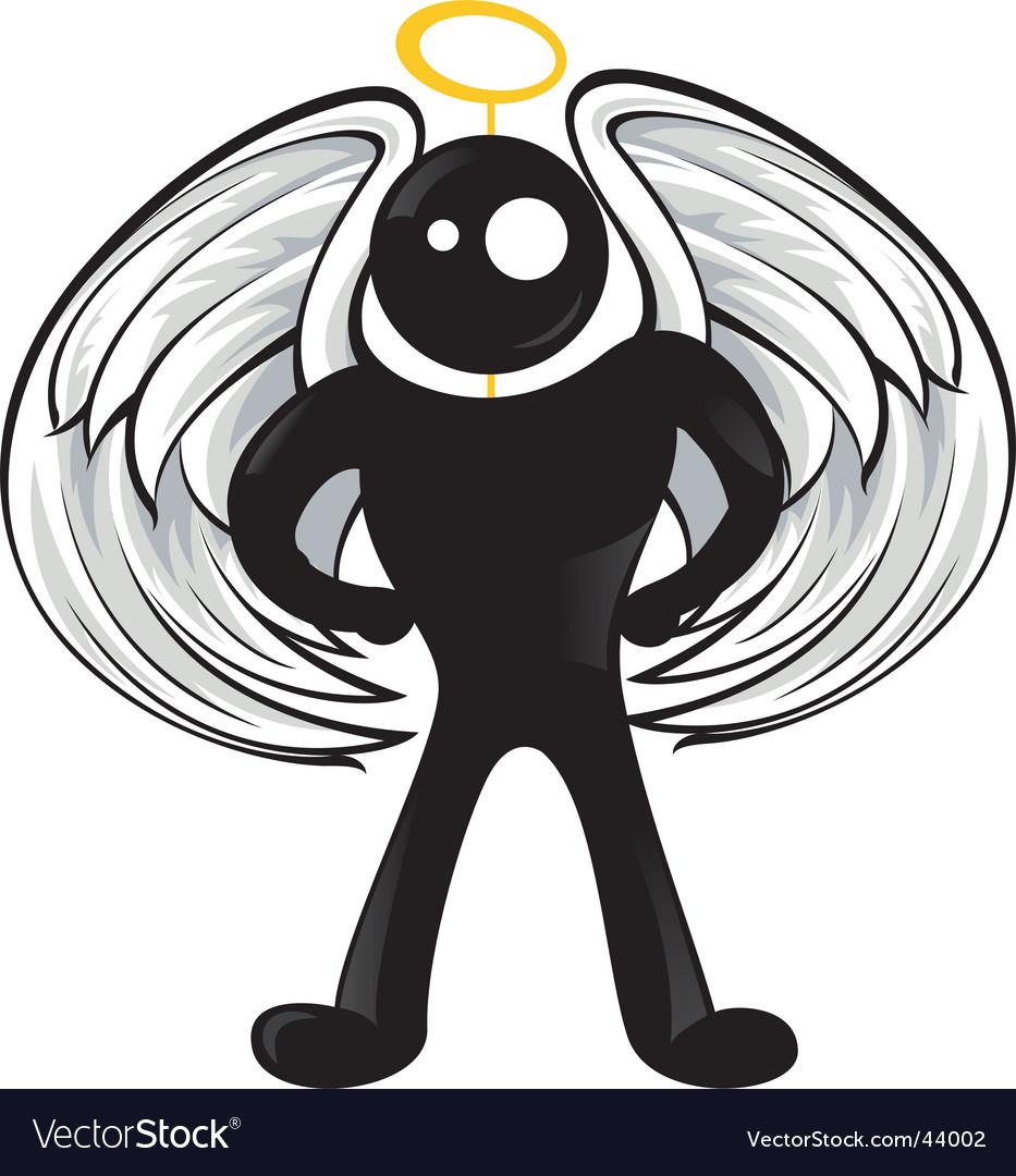 Black angel vector image