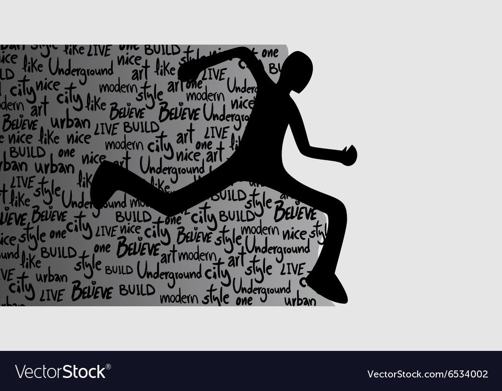 Runner symbol vector image