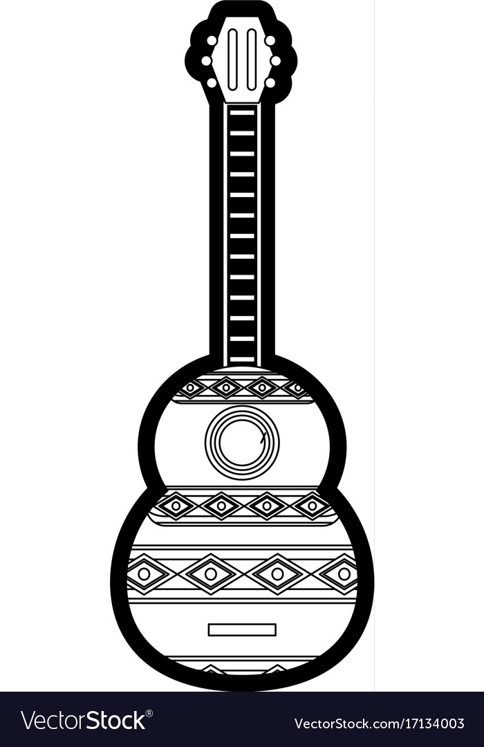 Guitar instrument design vector image