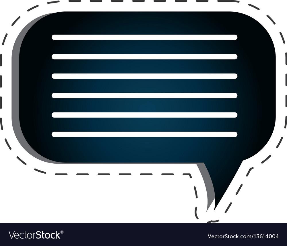 Speech bubble texting icon vector image