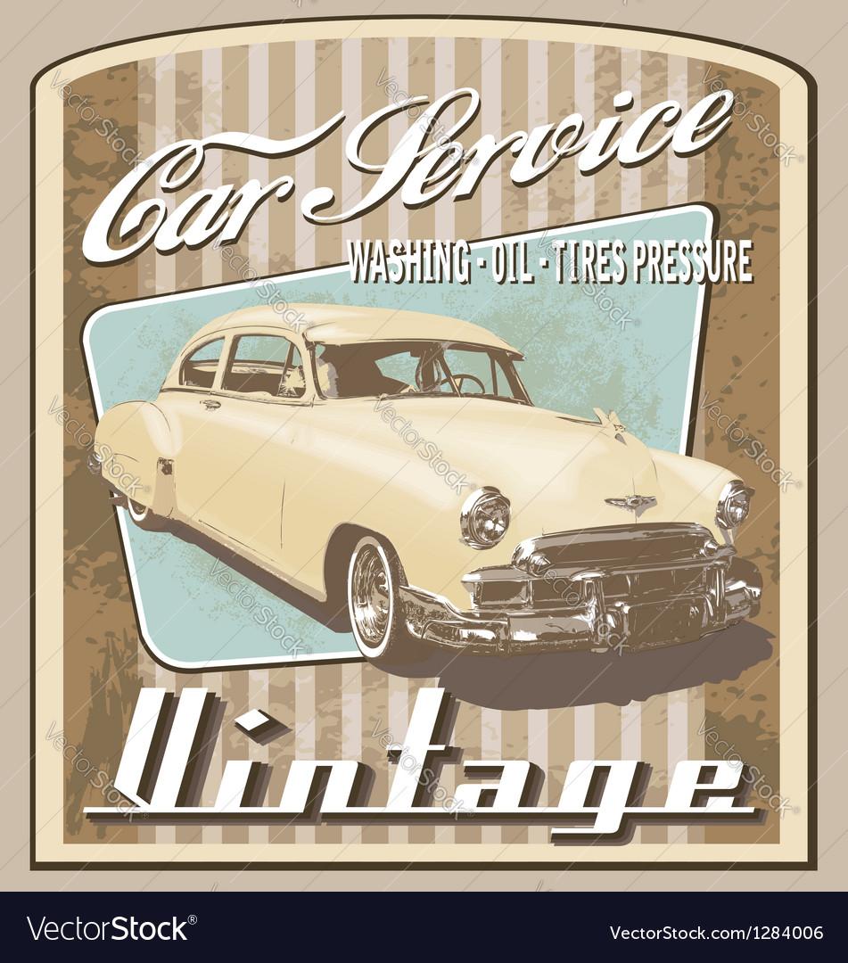 Old car vintage vector image