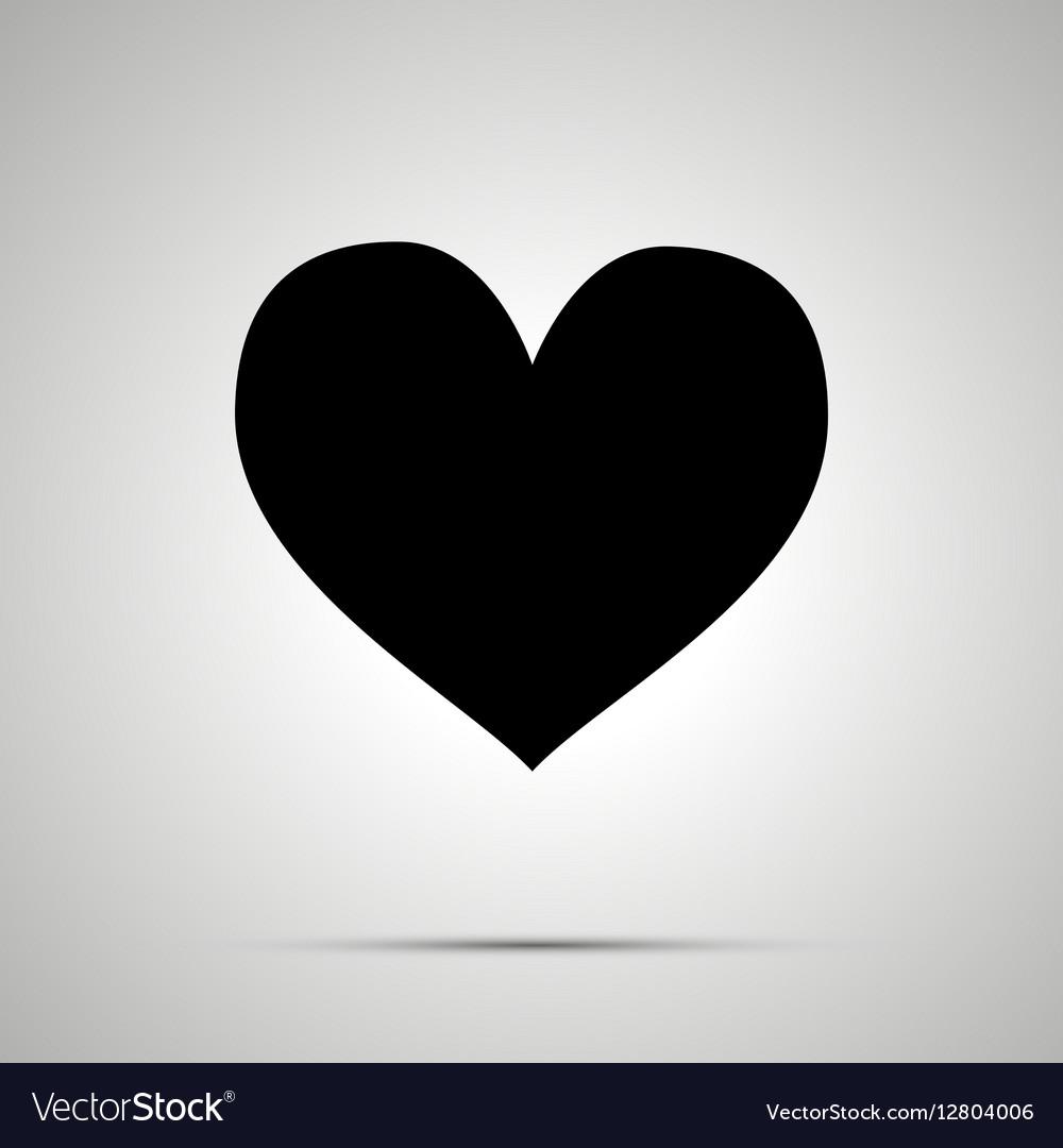 Heart simple black icon vector image