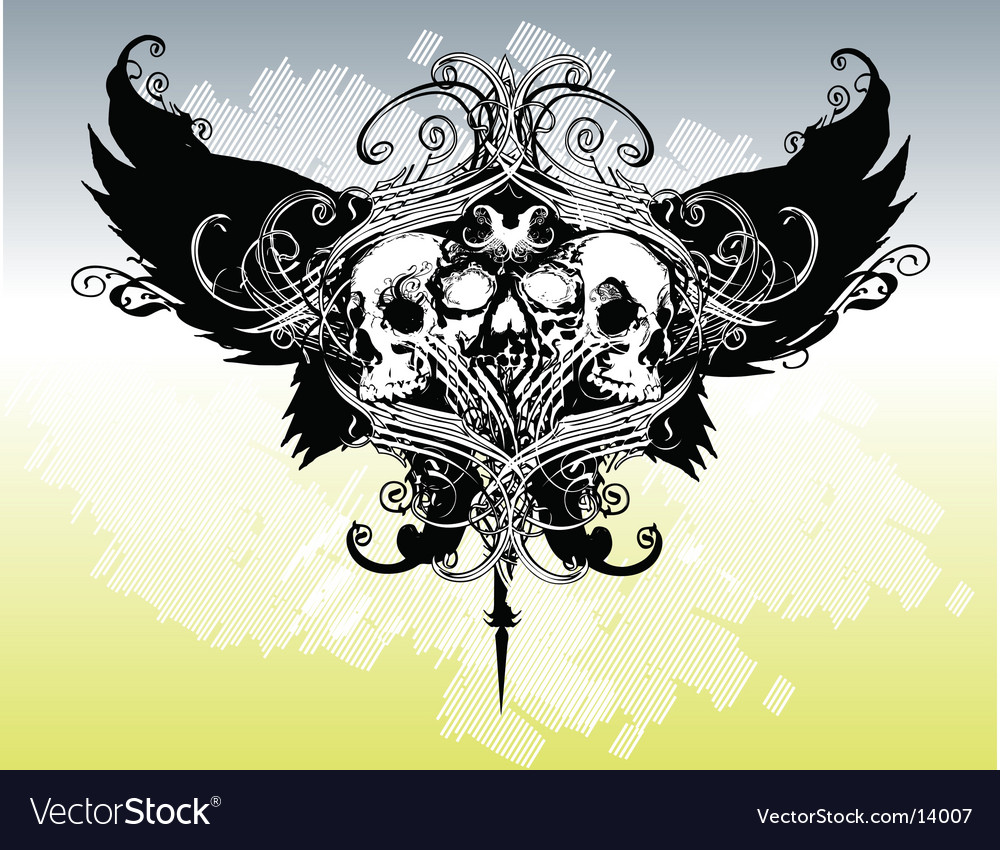 Legion of skulls illustration vector image