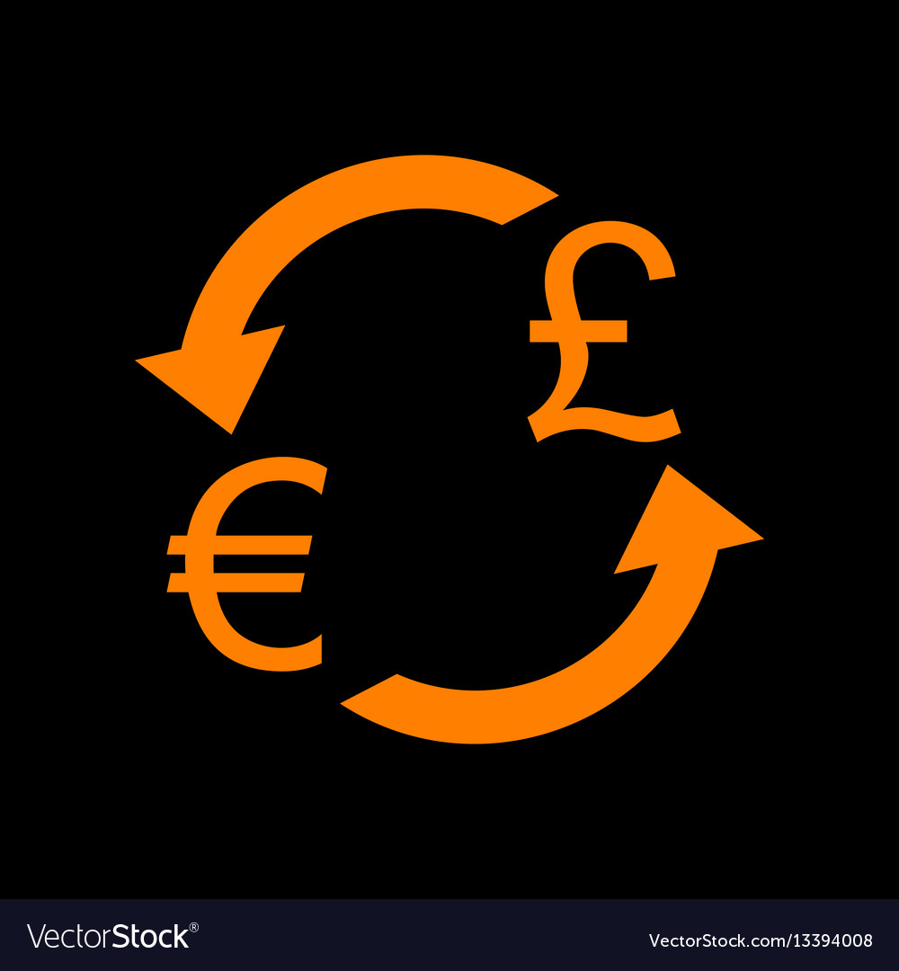 Currency exchange sign euro and uk pound orange vector image currency exchange sign euro and uk pound orange vector image buycottarizona