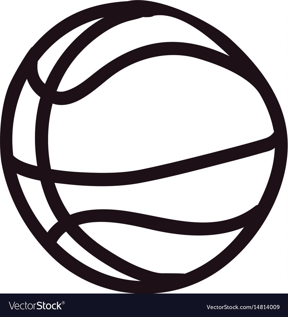 Basketball doodle cartoon vector image