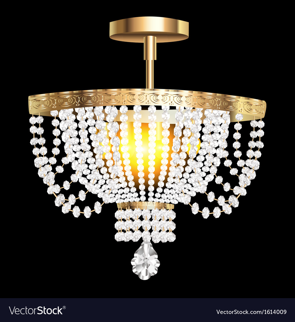 Crystal chandelier with modern Royalty Free Vector Image