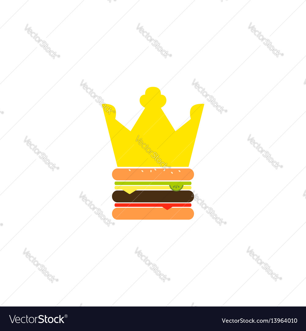 Burger king vector image