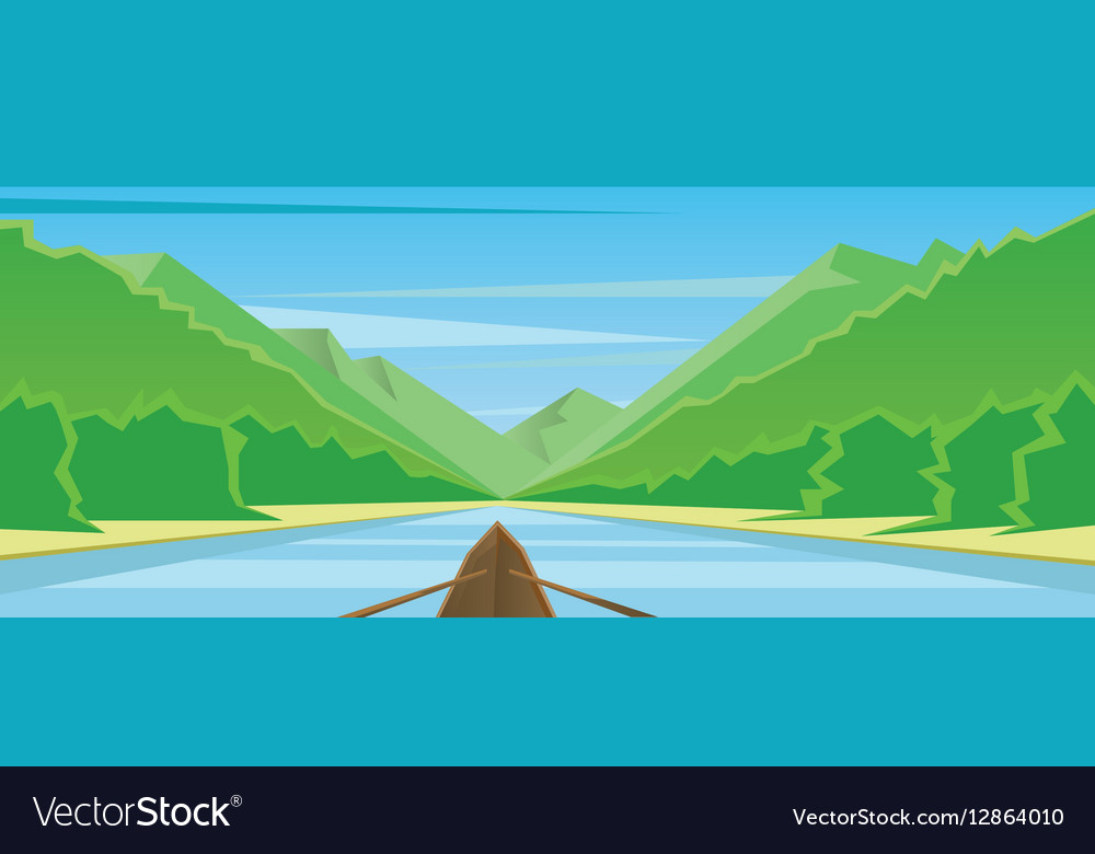 Digital abstract background with a boat vector image