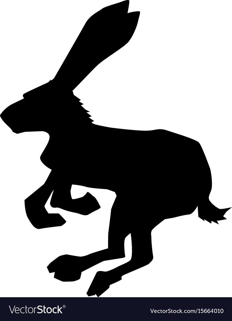 Hare symbol of cowardice vector image