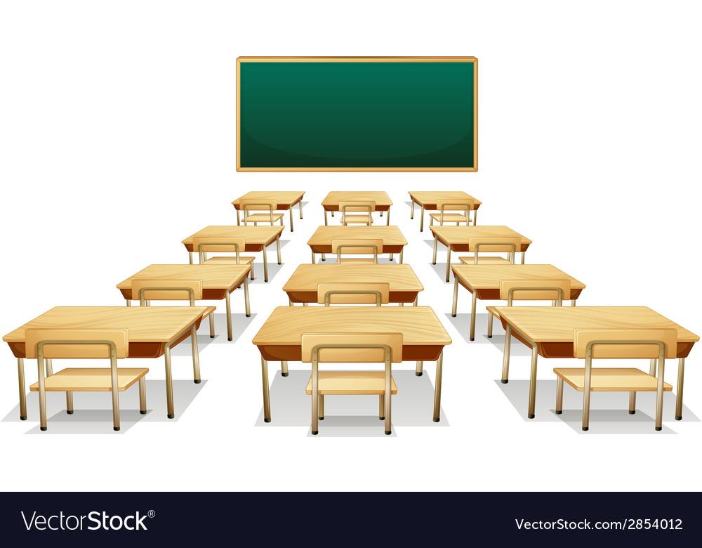 classroom table vector. classroom vector image table