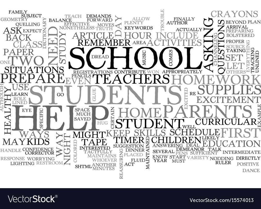 Back to school ways to help your student text vector image