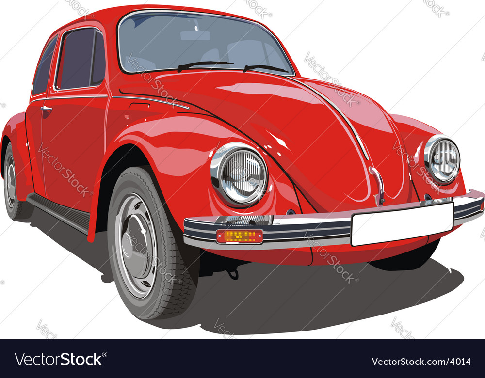 VW beetle car vector image