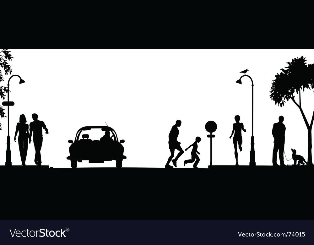 Street scene vector image