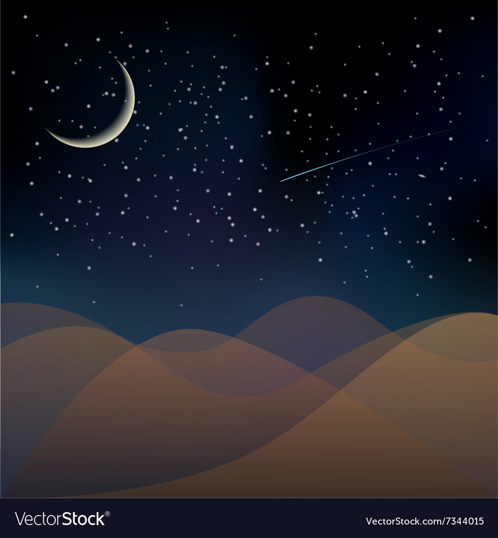 Planet surface on a dark starry sky background vector image