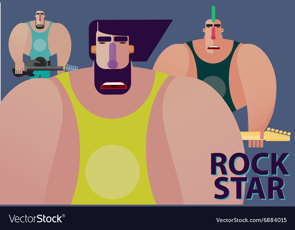 Rock band with soloist vector image