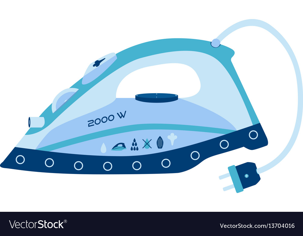 Appliance iron icon housekeeping electrical iron vector image